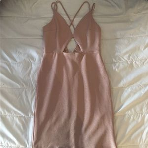 Pink Champagne cut-out bodycon dress